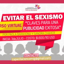 """Realizamos el curso virtual """"Evitar el sexismo- Claves para una publicidad exitosa"""""""